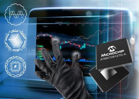 Touchscreen controller til store automotive displays