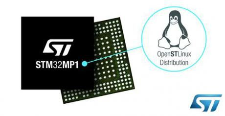 Ny STM32MP1 microprocessor-serie med Linux distribution