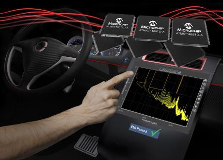 EMI-kvalifikation af automotive touchscreens med nye kapacitive touch controllere
