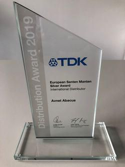 Avnet Abacus vinder 'TDK European Distribution Award' for tredje år i træk
