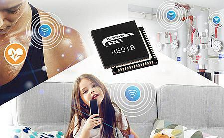 Bluetooth 5.0 i energy-harvesting baserede Renesas RE-microcontrollere